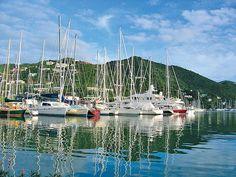 "Tortola, BVI - ""Westend harbor "" Soper's Hole  a place where BlueBeard roamed"