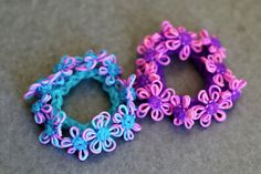 Tie-Dyed-Flower-Bracelets by YarnJourney, via Flickr
