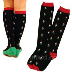 GNOMES SOCKS - WOMEN'S KNEE-HI Socks