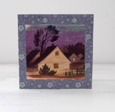 Handmade Vintage Folk Farmhouse Image Greetings Card by MissKatysVintageShop on Etsy