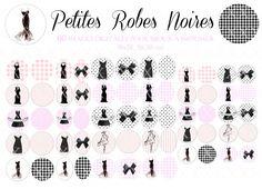 60 images digitales pour cabochons 18, 20, 25 & 18x25 mm robe