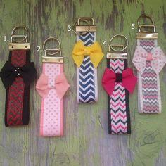 Key fobs keychains girly keychains bow by JoyfulJossyBowtique, $6.00