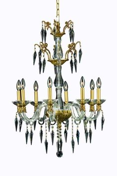 Grande 8 Light Crystal (Clear) Chandelier in French Gold Finish 5808D25FG/SS