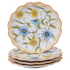 Vintage Hampton Tudor Rose Dinner Plate Set of 4 french country decor dessert plates appetizer plate dinner plates mother in law gift floral