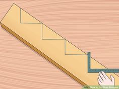 How to Cut Stair Stringers. Stair stringers are the backbone of any set of stairs. They support the treads and provide the structural support of the stairway. In order to cut your stair stringers perfectly, you need to take the time to. Outdoor Stairs, Deck Stairs, Wooden Stairs, Painted Stairs, Building Deck Steps, Building Stairs, Woodworking Projects Diy, Wood Projects, Woodworking Plans