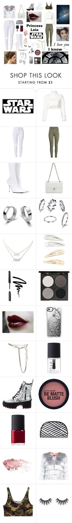 """""""Star Wars- Leia"""" by darkpastel ❤ liked on Polyvore featuring Hallmark, Alexandre Vauthier, Balenciaga, Chanel, Charlotte Russe, Kitsch, Bobbi Brown Cosmetics, Gorgeous Cosmetics, Casetify and Christian Dior"""
