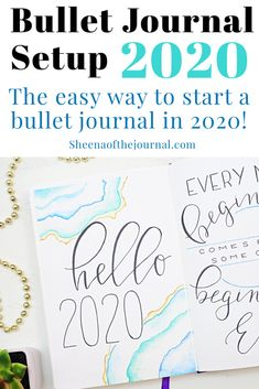 My 2020 Bullet Journal setup and guide to setting up your own notebook quickly and easily. Includes a printable Bullet Journal setup for beginners! Bullet Journal Starter Kit, Bullet Journal Printables, Bullet Journal How To Start A, Bullet Journal Layout, Bullet Journals, Journal Inspiration, Journal Ideas, Hello January Quotes, Year In Pixels