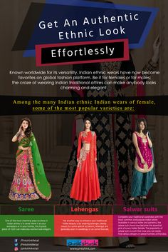 3a47e4cf50 Get An Authentic Ethnic Look Effortlessly Known worldwide for its  versatility, Indian ethnic wears have