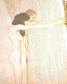 Gustav Klimt - Beethoven-Frieze / Beethoven Fries - Die Leiden der schwachen Menschheit…