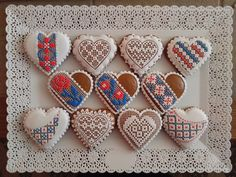 Lace Cookies, Sugar Cookies, Ideas Decoración, Heart Shaped Cookies, Cookie Ideas, Royal Icing, Cross Stitch Designs, Vintage Lace, Cookie Decorating