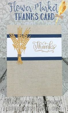 Cricut Flower Market Thanks card