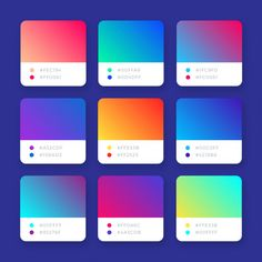 Abstract bright colorful vector gradients collection Source by Pintabian_Austria Graphic Design Tips, Graphic Design Posters, Graphic Design Inspiration, App Design, Logo Design Trends, Flat Design, Flat Color Palette, Website Color Palette, Ui Color