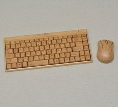 Wireless Handcrafted Natural Bamboo Basic PC by LithaCreations