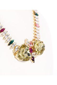 Collar vintage con corazón de cristal Swarovski de Anton Heunis