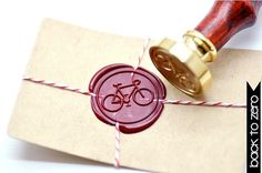 Wax Seal Stamp with Bicycle Icon - Eleanor's | Stylish Bicycle ...