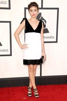 Sarah Hyland at the 2014 Grammy Awards.