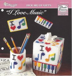 I Love Music Plastic Canvas Pattern The by KnitKnacksCreations