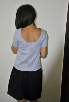 Robe Viviane avec une chemise d'homme