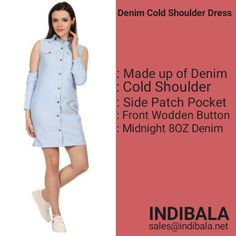 @Indibala offer an incredible collection of  Denim Dresses.... These ladies dresses can be custom designed in different Colors, Sizes as per the requirements of our Esteemed clients across the globe . With the assistance of our streamlined packing system, we are able to provide damage-free products to the clients like boutique owners, wholesalers, Retailers and  DTC buyers. To deliver the ladies spellbinding beauty, we have embellished this dress with Cold Shoulder.  Dm us sales@indibala.net Denim Dresses, Ladies Dresses, Free Products, Dress Making, Globe, Custom Design, Cold Shoulder Dress, Packing, Dresses For Work