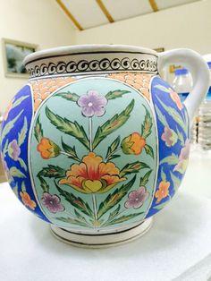 By İsmail yiğit Glazed Tiles, Turkish Tiles, Ceramic Pitcher, Wooden Bowls, Hand Painted Ceramics, Tile Art, Islamic Art, Ceramic Pottery, Wood Art