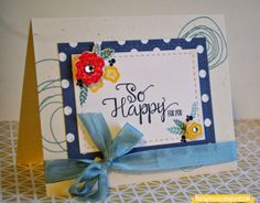 Burlap Kisses: So Happy For You Card Lil' Inker Designs Stitched Mats: Rectangle Dies Papertrey Ink Mini Blooms Stamp Set Papertrey Ink - Circle Scribbles Stamp Set