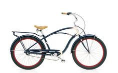 The look of the navy and cream paint job on the Electra mens Super Deluxe 3i is just mouth watering.