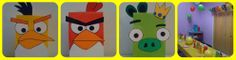 angry birds balloons and favors -FREE Printable Angry Birds Balloons Template