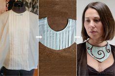 DIY: Collier aus alter Rüschenbluse #diy #deko #decoration #trend #tutorial #anleitung #selbermachen #filizity