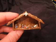 Miniature Nativity made from Grains of Rice by FancyFaylene, $21.00