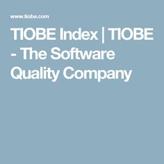 TIOBE Index | TIOBE - The Software Quality Company