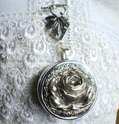 Music box locket round locket with music by Charsfavoritethings