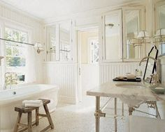 "Benjamin Moore's White Dove ""A hint of cream makes this my favorite white when I want some warmth."""