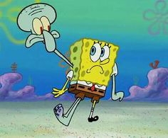 Squidbob over there represents the two headed baby that Eva's madrina gave birth too.  It was a situation that turned into a catastrophe spreading to the public.  For days it was the only thing anybody was talking about.  It caused he madrina to go into a downward spiral and made matters difficult.  Elvira did not approve and assured Eva that in order for that to happen she were to sleep with two different men on the same day.