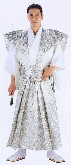 kamishimo white Samurai Clothing, Lovers Embrace, Kimono, Costumes, Traditional, Clothes, Fashion, Traditional Japanese, Japanese Clothing