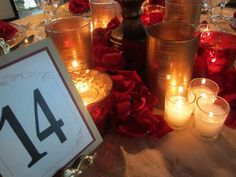 Romantic red and gold design