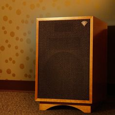First introduced in 1957, the Heresy, a three-way design, started out as a compact center channel speaker to accompany the Klipschorn® in three-speaker stereo arrays. In 1985, we made some changes and improvements to this model and re-released it as the Heresy II. Today, the new Heresy III has a more powerful woofer, a bi-wire network, and a titanium diaphragm tweeter with a larger magnet assembly. The midrange compression driver also features a new titanium diaphragm. ($850)