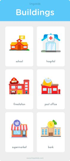 Places in Town Places in Town (Buildings) Learning English For Kids, English Teaching Materials, English Lessons For Kids, Have Fun Teaching, Teaching Kids, Kids Learning, English Activities For Kids, English Worksheets For Kids, Phonics Activities