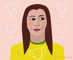 Futebol no Feminino | Soccer player | Illustration | Ilustração | Ilustracion
