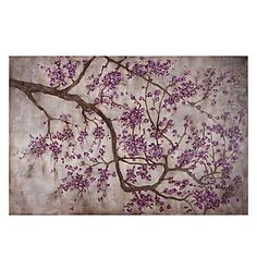 Z Gallerie - Aubergine Petals  Need to recreate this with more warm tones for master bathroom or bedroom!