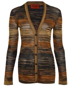 Missoni Gold Striped Lurex Cardigan | Women's Knitwear by Missoni | Liberty.co.uk