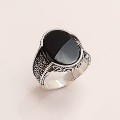 Black Onyx Men's Signature Luxury Ring 925 Sterling Silver Ottoman Fine Jewelry Designer Anniversary Fathers Day Eid Special Gifts Jewelry A Gold Jewelry, Fine Jewelry, Women Jewelry, Ruby Jewelry, Gold Bracelets, Jewelry Shop, Jewelry Stores, Jewelry Websites, Jewellery Uk