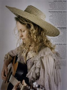 """Merrie England"": Tim Walker Shoots English Folk Culture for Vogue UK July 2011. Folk singer, Louise Jordan, takes ancient lyrics and sets them to ""natural music"". The folk singer cites Thomas Hardy and Fairport Convention's Sandy Denny as inspirations."