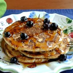 Four simple words that mean so much. This recipe has healthier ingredients and big fat blueberries to boot. Vegan Blueberry Pancakes is such a quick recipe that you can even make then on weekdays. Vegan Pancakes, Blueberry Pancakes, Breakfast Pancakes, Vegetarian Breakfast, Vegan Vegetarian, Quick Recipes, Vegan Recipes, Vegan Blueberry, Dessert Bread