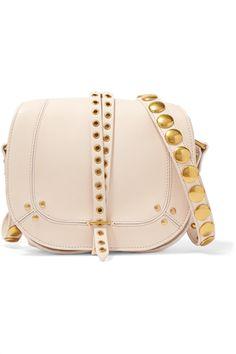 86af64f5c4e0 Jérôme Dreyfuss Victor embellished leather shoulder bag Pink Shoulder Bags,  Shoulder Handbags, Leather Shoulder
