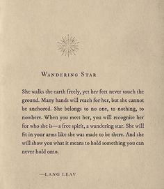 Wandering Star   -LANG LEAV                                                                                                                                                                                 More