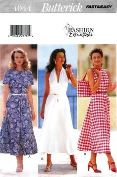 19f42d10704 Butterick 4044 Mischievious Forties  Styled Dress 1995