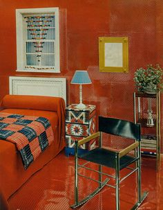 Bedroom design from Woman's Day, 1974.