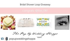 Congrats @liss_06 we look forward to working with you!!! #Repost @popupweddingshoppe with @repostapp.  It took a little extra time to tally the entries from our #bridalshower #giveaway but we bet @liss_06 will think it was worth the wait! Thanks again to everyone that entered and congrats to @liss_06 who has won these wonderful prizes from @minkmakeuphair @stationerybike @abbeylanefarm & @angee_w   #puwsforthewin #winner #bridetobe #getmarried #vancouver #weddings #sayido #favors…
