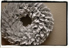 Reclaimed sheet music wreath.