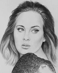 "Adele...11""x 14""...Pencil Portrait...by..Greg Hand"